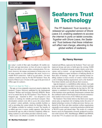 MP Q1-16#48 TECHNOLOGY Seafarers Trust  in Technology The ITF Seafarers'