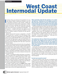 MP Q3-17#14 INSIGHTS West Coast  Intermodal Update t has been a busy