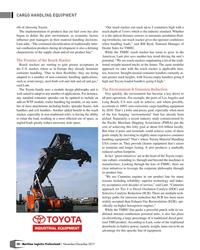 "MP Q4-17#58 CARGO HANDLING EQUIPMENT eft of choosing Toyota.  ""Our"