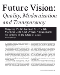 MP Q1-18#31 Future Vision:  Quality, Modernization  and Transparency Out