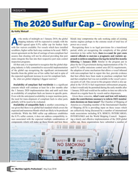 MP Q2-18#10 INSIGHTS The 2020 Sulfur Cap – Growing  By Kathy Metcalf t