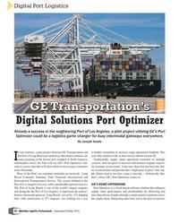 MP Q3-18#52 Digital Port Logistics GE Transportation's GE Transportatio