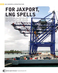 MP Q4-18#24 LNG: BUNKERS & INFRASTRUCTURE FOR JAXPORT,  LNG SPELLS