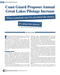 MP Q4-18#38 REGULATORY REVIEW Coast Guard Proposes Annual  Great Lakes