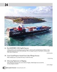 MP Q4-18#6 24 Credit: Crowley 24  For JAXPORT, LNG Spells Success