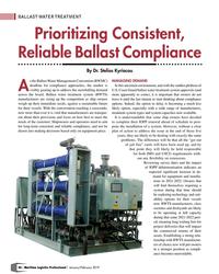 MP Q1-19#46 BALLAST WATER TREATMENT Prioritizing Consistent,  Reliable