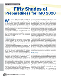 MP Q1-19#10 BUNKERS MANAGEMENT Fifty Shades of  Preparedness for IMO