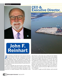 MP Q2-19#10 INSIGHTS CEO &  Executive Director, John F. Reinhart ohn F.