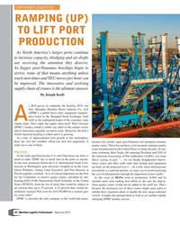 MP Q2-19#18 CONTAINER LOGISTICS RAMPING (UP)  TO LIFT PORT  PRODUCTION A