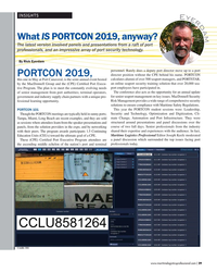 MP Q2-19#29 INSIGHTS E y e r d a m What IS PORTCON 2019, anyway? The