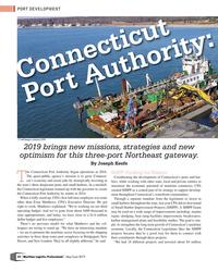 MP Q2-19#32 PORT DEVELOPMENT Connecticut  Port Authority:  (*) all