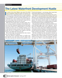 MP Q3-19#10 INSIGHTS The Latest Waterfront Development Hustle t's a