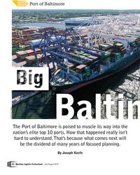 MP Q3-19#24 Port of Baltimore CREDIT: John Wilhelm The Port of Baltimore