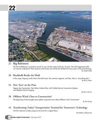 MP Q3-19#6 22 Credit: Jeff Sauers 22  Big Baltimore     The Port of