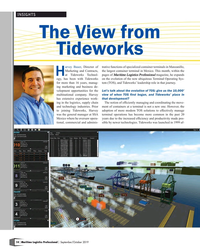 MP Q3-19#14 INSIGHTS The View from  Tideworks arvey Bauer, Director