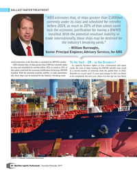 """MP Q4-19#38 BALLAST WATER TREATMENT """"ABS estimates that, of ships"""