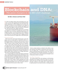 MP Q4-19#40 MARINE FUELS Blockchain and DNA: The game changers in the