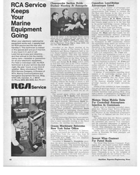 MR May-15-69#38 RCA Service Keeps Your Marine Equipment Going When your