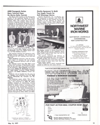 MR May-15-77#13 ASNE Pascagoula Section  Hears Technical Paper  On