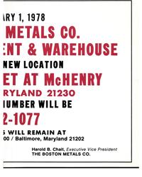 MR Dec-77#31  / Baltimore, Maryland 21202  Harold B. Chait, Executive Vice