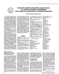 MR Feb-89#10 CANADIAN MARITIME INDUSTRIES ASSOCIATION