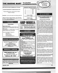 MR Sep-99#101 THE MARINE MART and Employment Section  IOW TO PLACE YOUR