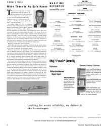 MR Sep-01#6  Manager  Editorial Intern Oksana Martemy • mar1emy@marinelink