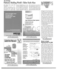MR Jan-03#26  wipers  • Clear view screens  ssl? • Associated control systems