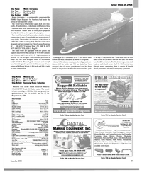 MR Dec-04#29 Great Ships of 2004  Ship Name Monte Cervantes  Ship