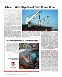 MR Sep-13#54  Maritime Cranes in the Oceania region, with deliveries