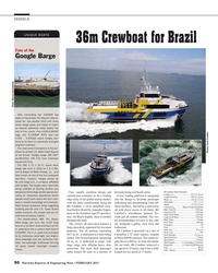 MR Feb-15#50 VESSELS UNIQUE BOATS 36m Crewboat for Brazil Fate of the