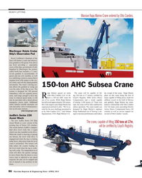 MR Apr-15#86  Marine Crane ordered by Otto Candies. HEAVY LIFT TECH