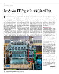 MR Jul-15#34 PROPULSION UPDATES Two-Stroke DF Engine Passes Critical