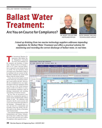 MR Aug-15#30  on Course for Compliance? BY GEOFF TAYLOR PSM  KATIE DAVAGE