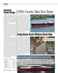 MR Oct-15#10 VESSELS Container OHIO: Crowley Takes New Tanker Feeder