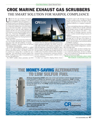 MR Dec-15#47  MARINE EXHAUST GAS SCRUBBERS THE SMART SOLUTION FOR MARPOL COMPLIANCE
