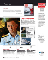 MR May-16#4 MARITIME Contents REPORTER AND ENGINEERING NEWS M A R I N