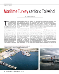 MR May-16#62 COUNTRY REPORT Maritime Turkey set for a Tailwind BY