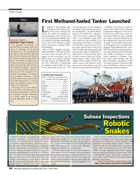 MR May-16#64 TECH FILES Navy First Methanol-fueled Tanker Launched aunche