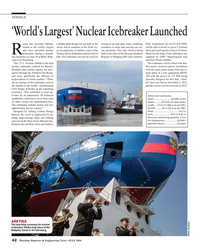 MR Jul-16#42 VESSELS 'World's Largest' Nuclear Icebreaker Launched ussia