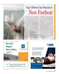 MR Oct-16#57 Vigor Delivers San Francisco's       New Fireboat Vigor