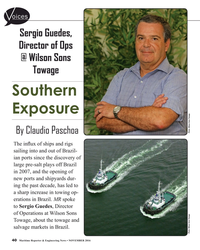 MR Nov-16#40 oices Sergio Guedes,  Director of Ops  @ Wilson Sons
