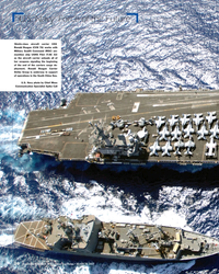 MR Mar-17#20  aircraft carrier USS  Ronald Reagan (CVN 76) works with  Military