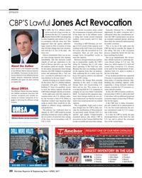 MR Apr-17#20 OPINION CBP'S Lawful Jones Act Revocation n 2009, the U.S.
