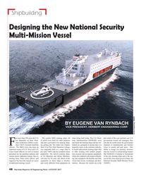 MR Aug-17#48   Multi-Mission Vessel BY EUGENE VAN RYNBACH VICE PRESIDENT