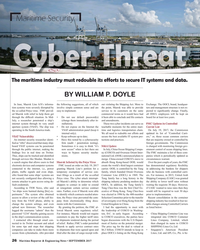 MR Sep-17#26 Maritime Security The maritime industry must redouble its