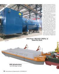 MR Nov-17#58  Wärtsilä's LNGPac at  Dubai Dry Dock. Photo: Wärtsilä Illus