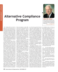 MR Dec-17#12 Alternative Compliance  About the Author Dennis L. Bryant