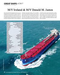 MR Dec-17#44  of 2017 M/V Ireland & M/V Donald M. James  M/V Ireland