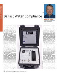 MR Feb-18#18 Ballast Water Compliance CLEAN WATER TECH About the